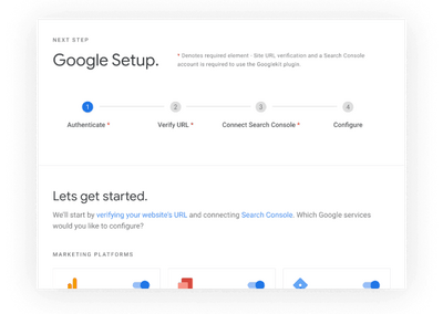 Google Site Kit Setup