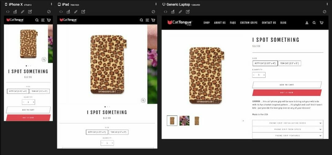 Responsive Shopify websites by Press Wizards